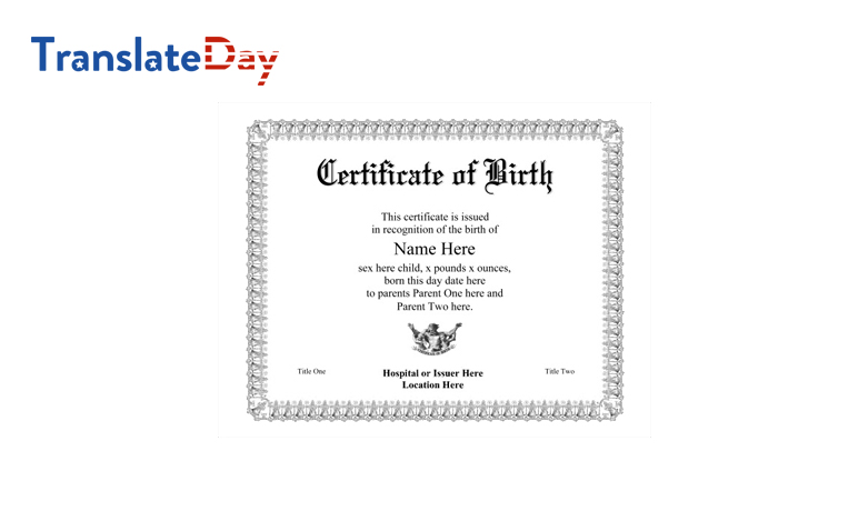 Birth Certificate Translation Notarized