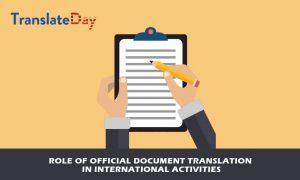 legal documents translation